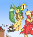 abstract_background anthro anthrofied barefoot big_breasts black_eyes blonde_hair breasts canine eeveelution female flareon fur fury89 group hair leafeon long_hair mammal nintendo nipples nude orange_body pokémon pussy smile video_games  Rating: Explicit Score: 10 User: furry_and_yiff Date: November 08, 2013""