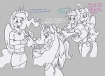 2015 black_and_white blush caroo clothing dialogue english_text equine female foot_fetish friendship_is_magic gloves glowing group horn husband_and_wife levitation magic male mammal monochrome my_little_pony princess_cadance_(mlp) princess_celestia_(mlp) princess_luna_(mlp) shining_armor_(mlp) sibling sisters sparkles sweat text tickling unicorn winged_unicorn wings  Rating: Safe Score: 2 User: 2DUK Date: May 26, 2015""