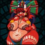2012 anthro belly big_belly big_breasts big_butt bodypaint breasts butt clothed clothing dragon facial_markings female hair horn huge_butt javanshir jewelry loincloth markings navel necklace nipple_piercing nipple_pinch nipples obese overweight overweight_female piercing pom red_body scalie simple_background skimpy solo voluptuous  Rating: Questionable Score: 30 User: Mikkowolf Date: February 20, 2016