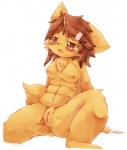 blush breasts brown_eyes brown_hair canine censored cute dog female fur hair kemono loli mammal nipples open_mouth pussy solo wahitouppe yellow_fur young  Rating: Explicit Score: 7 User: Komaru Date: May 19, 2015