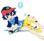 <3 ash_ketchum bottomless clothed clothing colored feral hat human male mammal mossarizopo_(artist) nintendo open_mouth partially_clothed pikachu pokémon shota video_games young  Rating: Explicit Score: -1 User: satoshi666 Date: February 07, 2016