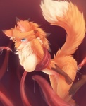 anthro big_breasts blue_eyes blush bound breasts canine female fluffy fox fox_tail fur looking_at_viewer mammal nude orange_fur paws penetration ricegnat solo tears tentacles tongue   Rating: Explicit  Score: 93  User: Elis  Date: February 17, 2013