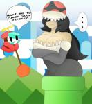 2015 breasts clothing duo female flora_fauna hair humor mario_bros mask nintendo not_furry pipe piranha_plant plant plunger shygirl shyguy smile text video_games will-the-sleepyhead  Rating: Safe Score: 7 User: ChaosMaster12 Date: May 21, 2015