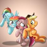 2015 applejack_(mlp) behind-space blush clothing cute earth_pony equine female feral friendship_is_magic group hair horse long_hair mammal my_little_pony pegasus pink_hair pinkamena_(mlp) pinkie_pie_(mlp) pony rainbow_dash_(mlp) smile wings   Rating: Safe  Score: 5  User: Robinebra  Date: May 14, 2015