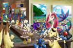 absurd_res alternate_color ampharos anthro apple arbok armaldo banana berry blush bread bread_loaf burger cafe canine charizard charmeleon chocolate_chip_cookie cinnamon_roll cookie cupcake dragon eating floatzel food fries fruit grapes group headphones hi_res jirachi kyurem lagomorph lapras legendary_pokémon lopunny lucario mammal mareep mashed_potatoes meatballs membranous_wings mienshao milotic nintendo nintendo_ds onixtymime oran_berry pasta pear pecha_berry pinap_berry pizza pokémon reshiram riolu scalie serperior shiny_pokémon spaghetti starmie steak video_games wings zekrom zoroark zorua