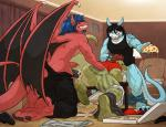 absurd_res anal anal_penetration anthro anus backsack balls biceps black_hair black_penis blackwing blue_hair blue_scales butt chapu claws clenched_teeth clothed clothing cum cum_in_ass cum_in_mouth cum_inside cum_on_penis cum_while_penetrated digimon dragon eyes_closed fangs fellatio flamedramon food from_behind green_scales grey_hair group group_sex hair half-dressed hi_res jason_hunt komodo_dragon lizard male male/male monitor_lizard muscular oral pants pants_down pecs penetration penis pizza red_eyes red_hair red_scales reptile scales scalie sex shirt smile spitroast tattoo teeth threesome toe_claws tongue tongue_out topless underwear underwear_down vein vest wfa white_scales wings  Rating: Explicit Score: 25 User: Pokelova Date: October 31, 2015