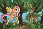 2014 blue_eyes brown_fur cervine cutie_mark deer digital_media_(artwork) duo equine female feral fluttershy_(mlp) friendship_is_magic fur grass green_hair hair hooves horn horse long_hair mammal mushroom my_little_pony nude outside pegasus pink_fur pink_hair plant pony raptor007 smile tree vines wings wood yellow_feathers yellow_fur   Rating: Safe  Score: 1  User: GameManiac  Date: March 27, 2015