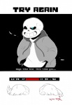 2016 ambiguous_gender animated_skeleton blood blue_eyes bone chara_(undertale) english_text hrdrifter human mammal not_furry protagonist_(undertale) sans_(undertale) simple_background skeleton text undead understage undertale video_games