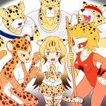 animal_humanoid anthro apollo_(cheetahmen) aries_(cheetahmen) black_eyes black_hair blonde_hair breasts cat_humanoid cheetah cheetah_(jl) cheetah_(kemono_friends) cheetahmen cheetara cleavage clothed clothing costume crossover dc_comics feline female flying_sweatdrops frown fully_clothed fur group hair headband hercules_(cheetahmen) hi_res human humanoid kemono_friends legwear male mammal multicolored_hair red_eyes roger-is skirt spots spotted_fur staff stockings sweat sweatdrop tears thundercats tongue tongue_out two_tone_hair yellow_eyes yellow_furRating: SafeScore: 1User: ROTHYDate: May 25, 2017