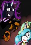 2015 anthro anthrofied aura crossover equine female friendship_is_magic glowing hair heroesheaven horn horse konami mammal metal_gear my_little_pony open_mouth pony princess_celestia_(mlp) twilight_sparkle_(mlp) twilight_venom unicorn venom_snake video_games winged_unicorn wings  Rating: Safe Score: -2 User: DukeOfInternet Date: October 23, 2015