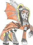 5j4c720 clothing dragon dress equine fan_character female goth kirin mammal metal my_little_pony pegasus scalie simple_background solo white_background wings  Rating: Safe Score: 1 User: 5J4C720 Date: March 03, 2013