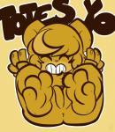1-upclock anthro barefoot bear brown_fur dialogue english_text feet female fingers foot_focus fur hair mammal marina_(1-upclock) nintendo nude pokémon pussy simple_background smile soles solo teddiursa text toes video_gamesRating: ExplicitScore: 1User: TheHappyAshibeDate: September 19, 2017