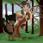 animal_ears canine chibi climbing clothing cute f-ss fao forest group loincloth lowe male mammal playing smile tate tattoo tree wolf  Rating: Questionable Score: 0 User: Ryce~ Date: June 09, 2015""