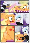 absurd_res anal anus applejack_(mlp) ball_gag bdsm close-up comic dialogue domination earth_pony edit english_text equine female female/female female_domination feral fluttershy_(mlp) friendship_is_magic gag hi_res hisexpliciteditor horn horse mammal masturbation my_little_pony oral pegasus pony pussy pussy_juice pyruvate rarity_(mlp) rimming sex text unicorn vaginal_masturbation wings  Rating: Explicit Score: 4 User: HisExplicitEditor Date: November 19, 2014