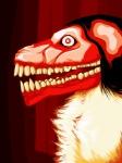 abstract_background ambiguous_gender black_hair canine chest_tuft chromatic_background creepypasta dog flesh gums hair looking_at_viewer meme nightmare_fuel open_mouth red_body red_eyes smile.dog solo teeth tongue tuft vector   Rating: Safe  Score: 0  User: lalalalala  Date: April 20, 2010