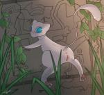 anus blue_eyes butt dripping female feral grass legendary_pokémon looking_at_viewer looking_back mew nintendo outside pokémon presenting presenting_hindquarters pussy pussy_juice solo truckk video_games  Rating: Explicit Score: 8 User: RioluKid Date: August 07, 2014