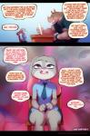 2018 anthro buckteeth clothed clothing comic disney doxy english_text female judy_hopps lagomorph male mammal open_mouth purple_eyes rabbit rhinoceros teeth text zootopiaRating: ExplicitScore: 28User: cinnamon365Date: March 20, 2018