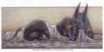 2000 abs anthro anubian_jackal anubis blue_eyes blue_hair bracelet canine dark_natasha deity dreadlocks gold_(metal) hair jackal jewelry looking_at_viewer lying male mammal muscles nipple_piercing nipples nude piercing pose ring silk solo  Rating: Questionable Score: 7 User: 2DUK Date: June 05, 2015