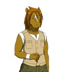 akira_nikaidou brown_hair clothing equine hair horse looking_at_viewer male mammal morenatsu pants plain_background shirt solo standing unknown_artist white_background wristband   Rating: Safe  Score: 7  User: BlackBoltEX  Date: August 25, 2013