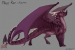 2013 absurd_res avoid_posting claws dragon feral frisky_ferals hi_res horn kasper long_tail male orange_eyes purple_scales scalie sefeiren solo spade_tail spikes standing stripes thick_tail   Rating: Safe  Score: 12  User: otterface  Date: August 13, 2013