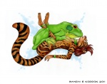 2011 amphibian anthro anthro_on_feral banrai bestiality duo feline female feral frog grope interspecies korrok mammal ocelot sex   Rating: Explicit  Score: 3  User: Nartholatep  Date: March 16, 2011