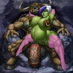 anthro areola balls big_breasts big_nipples breasts butt clothed clothing cum duo ear_piercing erect_nipples facial_piercing female flaccid fur green_skin hair hooves horn huge_breasts humanoid lipstick male mammal minotaur multicolored_hair muscles navel navel_piercing nipple_piercing nipples nose_piercing nose_ring not_furry nude orc penis piercing pointy_ears precum pregnant pubes pussy pussy_floss raised_arm rampage0118 spreading teeth thick_thighs vem video_games warcraft world_of_warcraft   Rating: Explicit  Score: 6  User: Pasiphaë  Date: May 04, 2015
