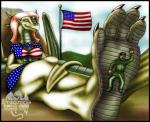2003 anthro black_hair breasts brown_hair clothed clothing digital_media_(artwork) dragon duo facial_hair feet female flag foot_fetish foot_focus green_scales hair horn human male mammal markie mustache scalie sitting size_difference skimpy smile soldier solo_focus stars_and_stripes united_states_of_america wings   Rating: Questionable  Score: -4  User: GameManiac  Date: April 01, 2015