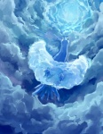 altaria ambiguous_gender avian bakawasima bird cloud feathers feral fur nintendo outside pokémon sky solo video_games wings