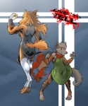anthro canine comic female final_fantasy final_fantasy_unlimited hobbes_maxwell live_to_tell mammal muscles ru_(final_fantasy_unlimited) video_games vulpa wolf  Rating: Safe Score: 2 User: Hobbes_Maxwell Date: November 16, 2010