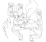 anthro big_breasts breasts butt camera canine clothing digimon duo elbow_gloves erection eyewear female fox gloves goggles hanging_breasts japanese_text mammal monochrome muscular muscular_female nipples penis pose presenting pussy_juice renamon sukarabe takato_matsuki text video_camera wide_hips  Rating: Explicit Score: 4 User: ErosThanatos Date: September 02, 2012