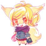 blonde_hair canine chibi clothing female fox hair kemono mammal open_mouth red_eyes school_uniform schoolgirl solo マボ   Rating: Safe  Score: 1  User: KemonoLover96  Date: May 09, 2015