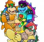 age_difference anal anal_penetration bowser bowser_jr. bowserboy101 cuffs_(disambiguation) dreamy_bowser father father_and_son fellatio group group_sex hair handjob hi_res incest koopa leash male male/male mario_and_luigi_(series) mario_bros nintendo oral paper_mario parent penetration penis red_hair scalie sex simple_background size_difference slightly_chubby son super_smash_bros tongue video_games white_background young  Rating: Explicit Score: 8 User: Zest Date: January 30, 2016