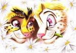 ambiguous_gender anthro cat duo fantasyisland feline flower fun mammal plant serval smile yu-gi-oh yugi yunaki   Rating: Safe  Score: 2  User: FantasyIsland  Date: July 27, 2013