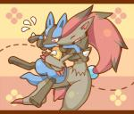 2015 ambiguous_gender anthro black_fur blue_fur claws comic cover_page duo eyes_closed fur grey_fur hair lucario nintendo nongqiling open_mouth pokémon red_eyes red_hair video_games zoroark   Rating: Safe  Score: 7  User: Granberia  Date: February 03, 2015