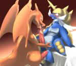 biozs charizard dragon duo imminent_sex male male/male nintendo oral penis pokémon precum samurott video_games wings   Rating: Explicit  Score: 27  User: Pokelova  Date: February 14, 2015