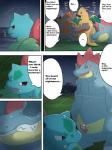 beach comic dragonite english_text female feraligatr genital_slit humanoid_penis ivysaur maggotscookie male nintendo outside penis pokémon rhyperior seaside slit text video_games   Rating: Explicit  Score: 5  User: Imaderule34  Date: October 14, 2013