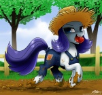 2014 apple blue_eyes dirty equine female feral friendship_is_magic fruit hair horn horse john_joseco looking_at_viewer mammal mud muddy my_little_pony pony purple_hair rarity_(mlp) smile solo unicorn water   Rating: Safe  Score: 12  User: Robinebra  Date: February 08, 2014