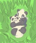 alpacapala ambiguous_gender bamboo bear black_fur duo feral fur grass looking_at_viewer lying mammal nintendo on_back open_mouth pancham panda pokémon teeth video_games white_fur   Rating: Safe  Score: 1  User: DeltaFlame  Date: April 25, 2015