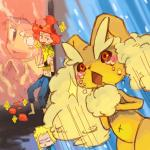 clothing_damage duo flint_(pokémon) hair human kemnoo lagomorph lopunny mammal nintendo open_mouth pokémon rabbit red_eyes short_hair utsuki_maito video_games volkner_(pokémon)  Rating: Safe Score: 3 User: GONE_FOREVER Date: August 08, 2015