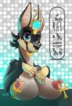 2015 anthro anubian_jackal areola big_breasts breasts canine don_ko erect_nipples female jackal looking_at_viewer mammal nipple_piercing nipples piercing smile solo  Rating: Questionable Score: 16 User: Robinebra Date: October 02, 2015