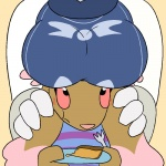 2015 aliasing alternate_color anthro big_breasts blush boob_hat boss_monster breasts brown_fur caprine clothed clothing digital_media_(artwork) duo eating female food fur goat lagomorph lopunny mammal nintendo pie pokémon rabbit red_eyes shiny_pokémon simple_background spaffy toriel trout_(artist) undertale video_games white_fur  Rating: Questionable Score: 10 User: Guffin Date: April 23, 2016