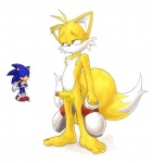 canine chest_tuft edit erection eyes_closed fox hedgehog male masturbation miles_prower multiple_tails nude penis sega shoes sonic_(series) sonic_the_hedgehog tuft   Rating: Explicit  Score: 2  User: Kevster  Date: December 20, 2009