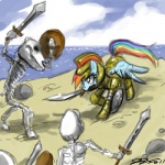 animated_skeleton armor blue_body bone crossover equine female feral friendship_is_magic hair john_joseco mammal multi-colored_hair my_little_pony parody pegasus pink_eyes rainbow_dash_(mlp) rainbow_hair skeleton sword undead weapon wings   Rating: Safe  Score: 6  User: Princess_Celestia  Date: May 09, 2011