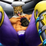 biceps bulge feline fighting_ring fur green_eyes human king_(tekken) leopard looking_at_viewer male mammal mask muscles nipples royalty solo sport standing tekken tongue unknown_artist wrestler  Rating: Questionable Score: 3 User: Ixsus Date: June 15, 2010