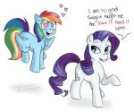 blue_fur english_text equine female friendship_is_magic fur hair horn mammal my_little_pony pegasus purple_hair rainbow_dash_(mlp) rarity_(mlp) text unicorn white_fur wings wizardglitter   Rating: Safe  Score: 8  User: Lunaz  Date: April 07, 2014