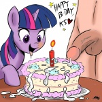 balls bestiality cake cum cumshot drooling duo equine female feral food friendship_is_magic horn horse human interspecies male mammal megasweet my_little_pony orgasm penis pony purple_eyes saliva sex straight twilight_sparkle_(mlp) unicorn   Rating: Explicit  Score: 2  User: Robinebra  Date: December 08, 2011
