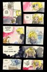 blonde_hair blue_eyes comic female feral hair human lying male nidorina nintendo pokémon qlock sandshrew text video_games young   Rating: Safe  Score: 2  User: UNBERIEVABRE!  Date: January 19, 2014