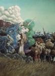 2014 armor army blue_eyes blue_hair cloud crown equine female flag friendship_is_magic galea gold_(metal) graffegruam grass group hair helmet horn mammal melee_weapon multicolored_hair my_little_pony outside polearm princess_celestia_(mlp) princess_luna_(mlp) purple_eyes royal_guard_(mlp) sky sparkles spear weapon winged_unicorn wings  Rating: Safe Score: 15 User: 2DUK Date: January 05, 2015