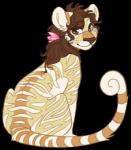 colored feline female flower flower_in_hair fur hair jean_(artist) kougra looking_at_viewer mammal neopets plant sitting solo striped_fur stripes tiger  Rating: Safe Score: 6 User: AnonymousNeopian Date: April 05, 2015