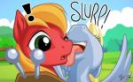 ! 16:10 2015 big_macintosh_(mlp) cute derpy_hooves_(mlp) duo earth_pony equine female feral friendship_is_magic hi_res horse licking male mammal my_little_pony mysticalpha pegasus pony tongue tongue_out wings  Rating: Safe Score: 19 User: Robinebra Date: February 20, 2015